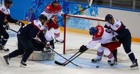 The Czech Republic and Slovakia fight it out at the Ice Hockey World Championships – Iurii Osadchi / Shutterstock