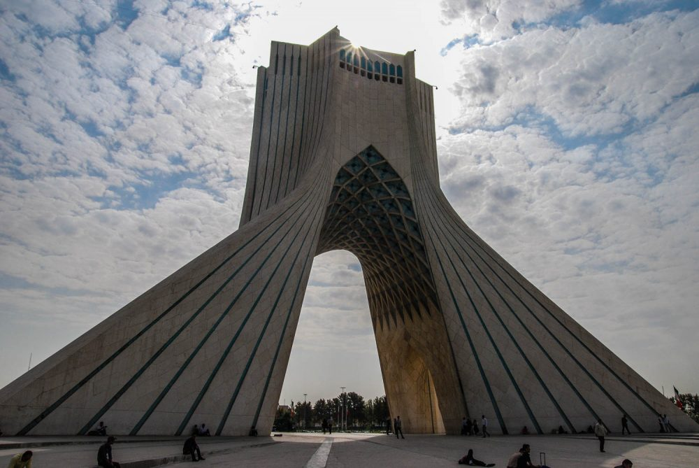 The Azadi Tower in Tehran was built with 8,000 blocks of white Iranian marble – Tommy Nilsson Iran