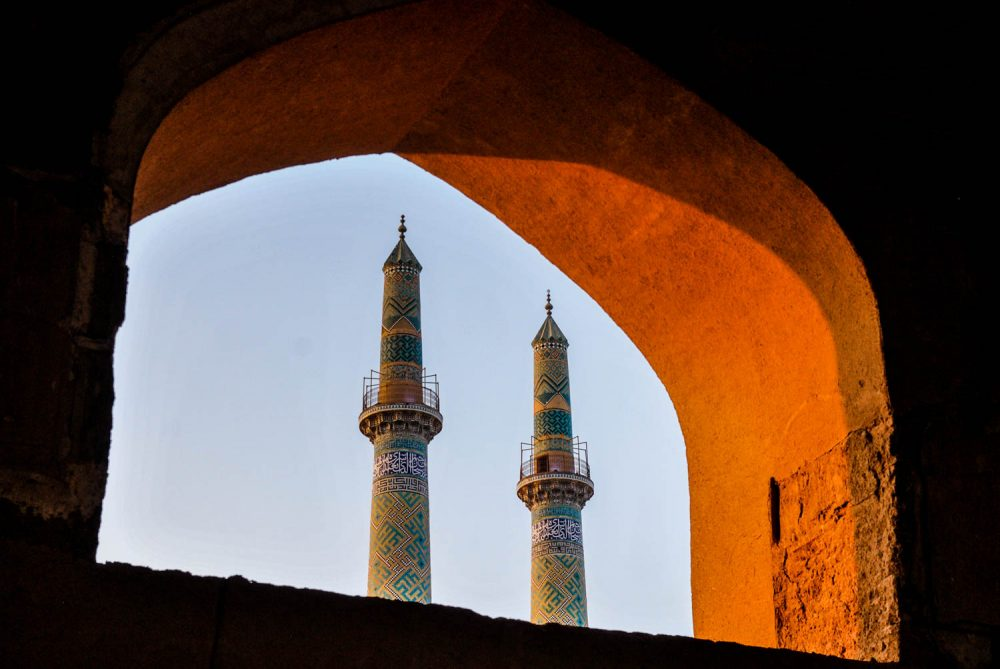 The Jame Mosque of Yazd is seen from the city's mazes – Tommy Nilsson Iran
