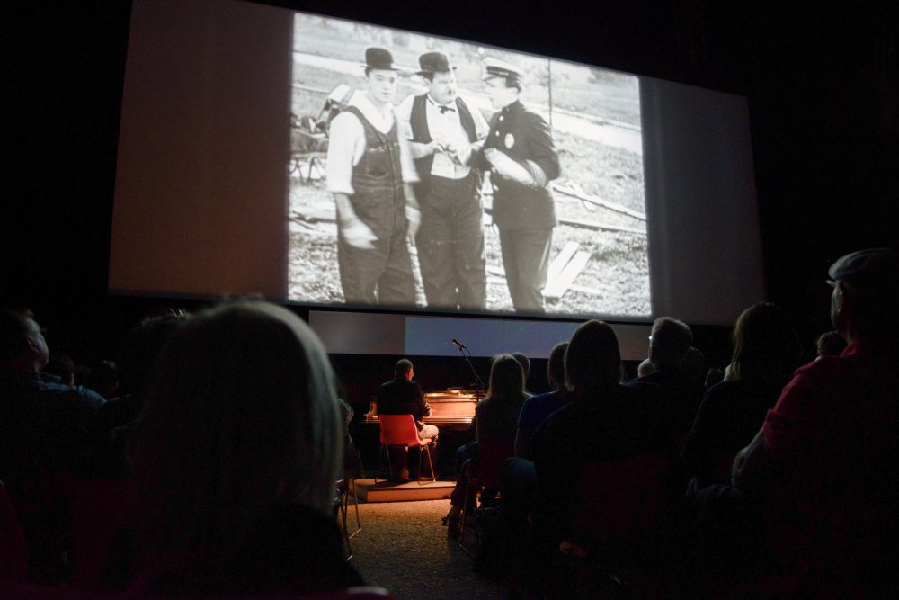 The composer Neil Brand plays the soundtrack to a silent Laurel and Hardy film –  Santeri Happonen / MSFF 2016 Midnight Sun Film Festival
