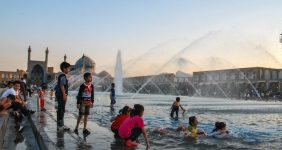 Children play in the pool on the Naqsh-e Square, Isfahan – Tommy Nilsson Iran