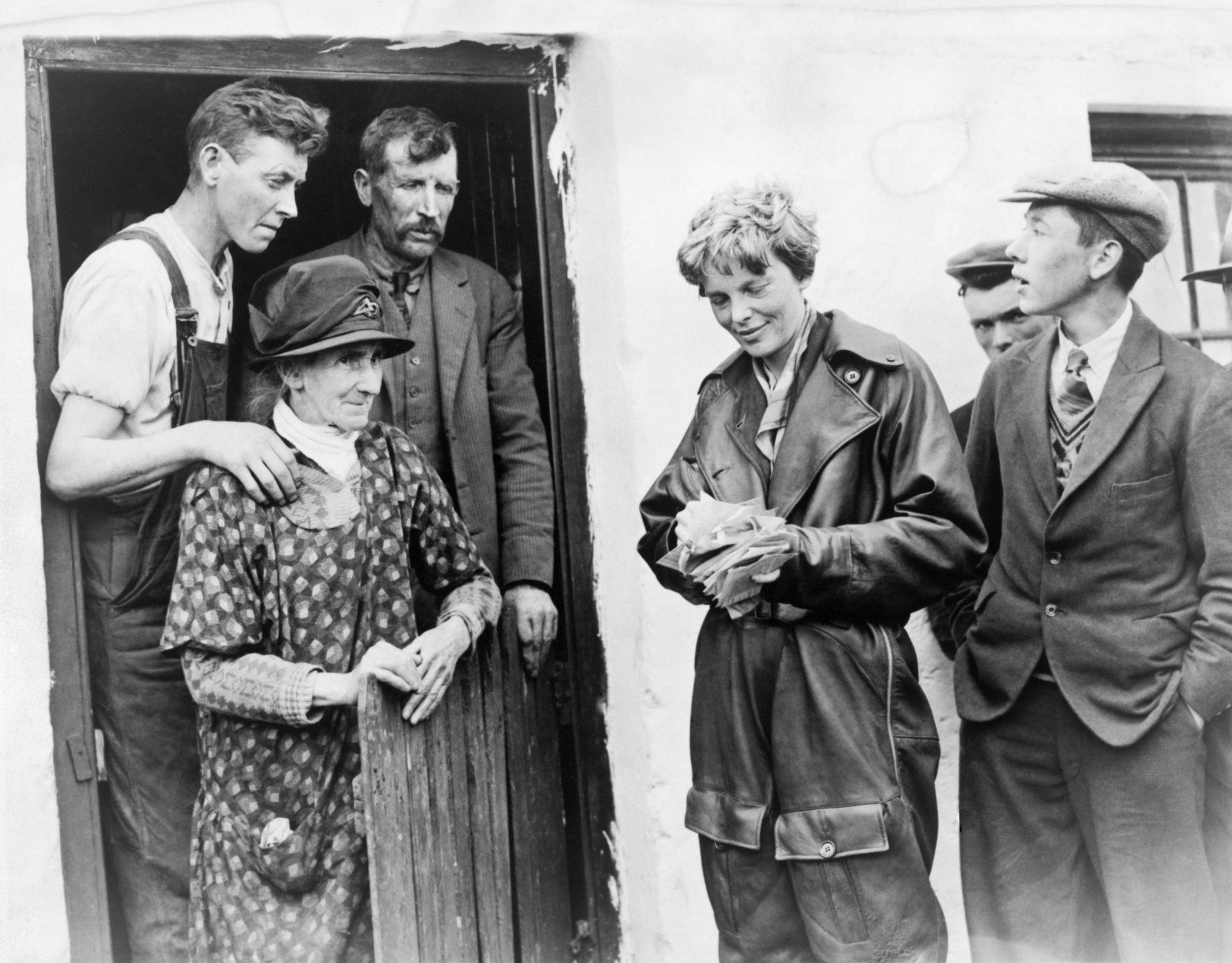 Amelia Earhart meets the good folk of Culmore, Derry after landing her first transatlantic flight – Shutterstock