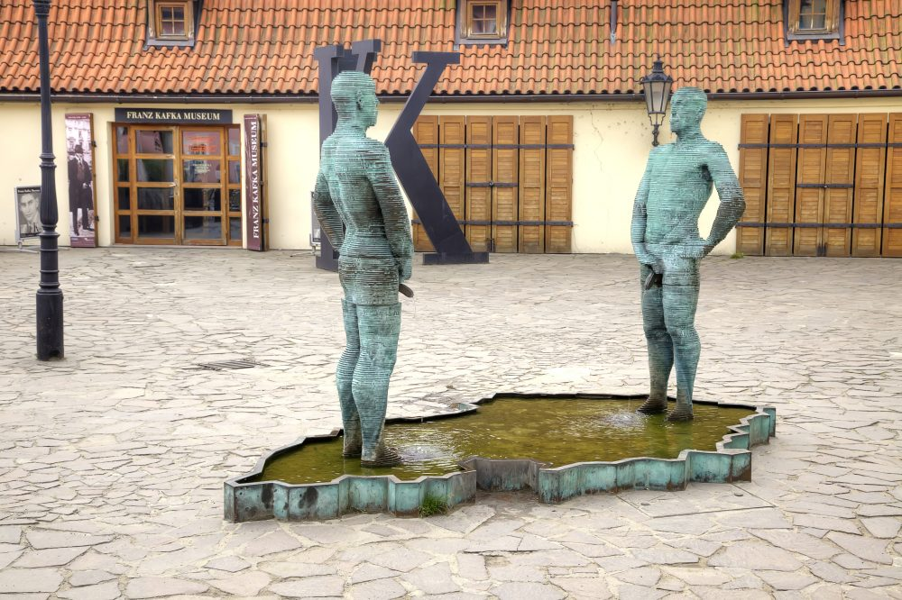 The Piss Sculpture by David Černý – ppl / Shutterstock monuments