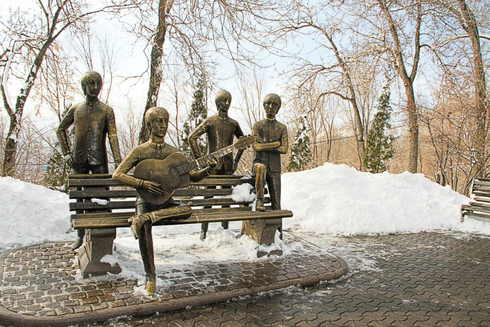 The Beatles statue in Almaty makes them look like androids – Photoprofi30 / Shutterstock monuments