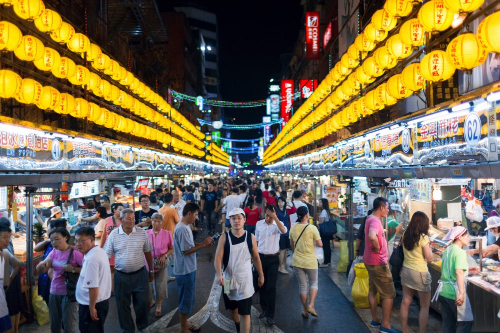 Taiwan's night markets have a reputation for the best street food in the world – Yevgen Belich / Shutterstock vegetarian
