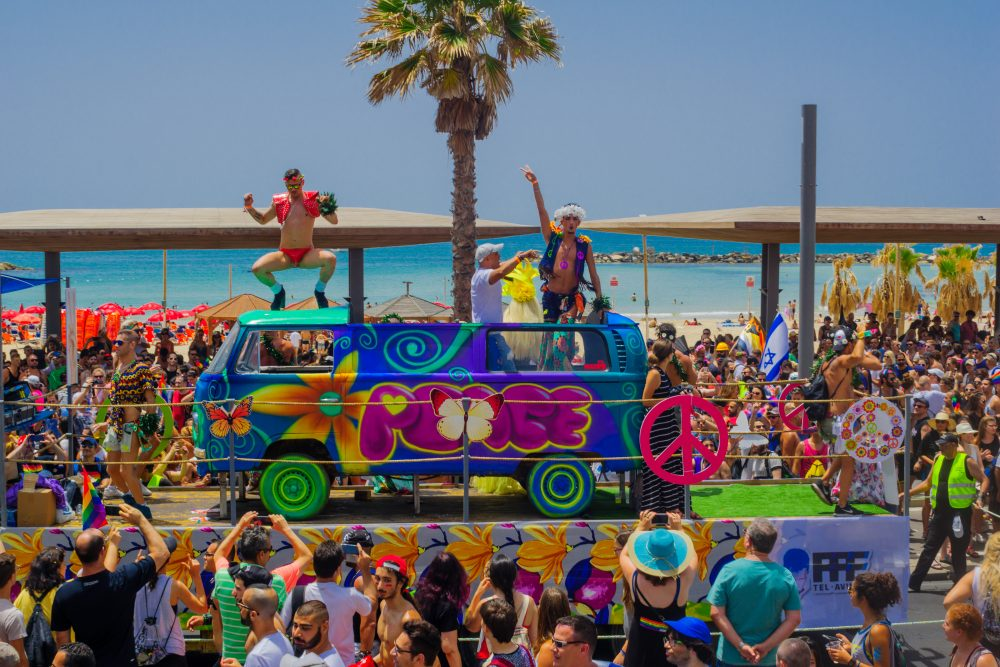 The Pride march in Tel Aviv, which is very much a party city – RnDmS / Shutterstock Israel