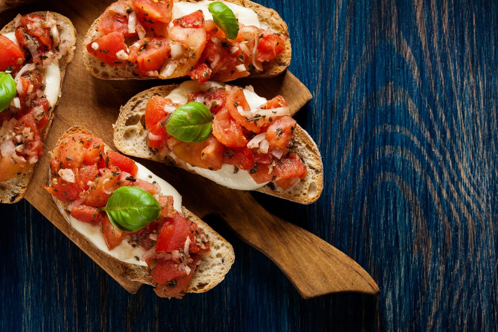 Can there be anything better than bruschetta? – Shutterstock