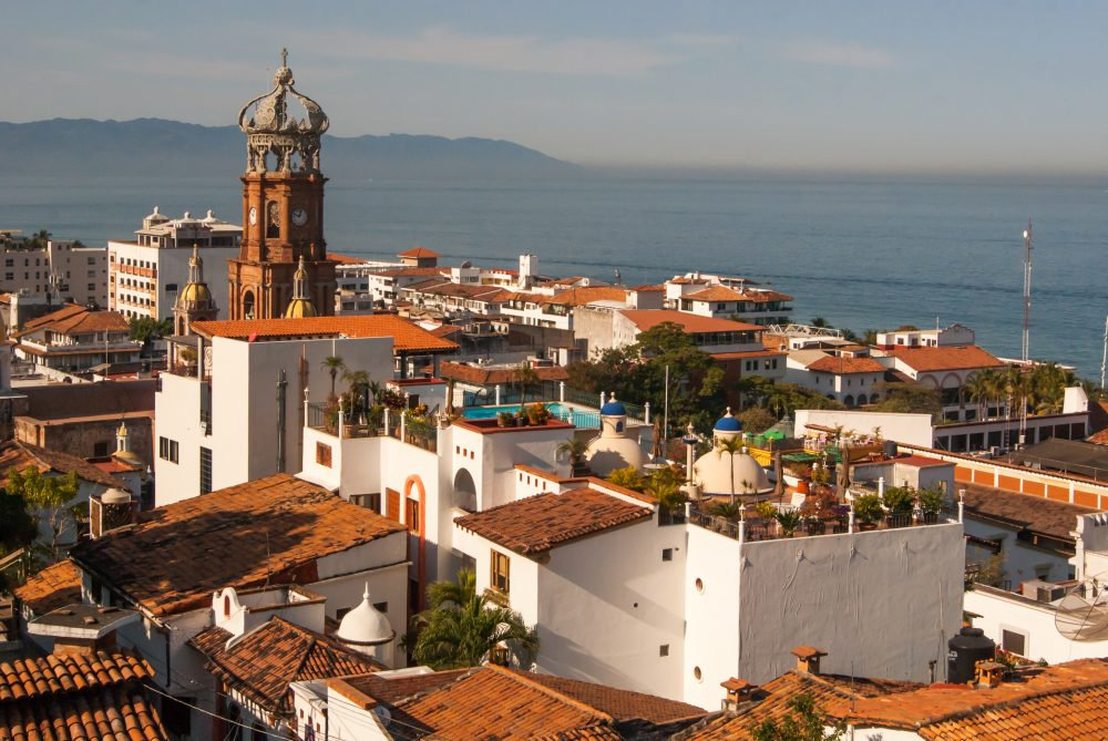 The Church of Our Lady of Guadalupe is seen over the rooftops of Puerto Vallarta – Shutterstock Islas Marietas