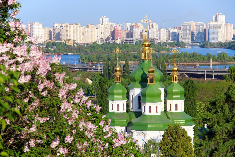 """""""Kiev is like a huge painting, made by people just happily throwing buckets of colourful paint at it"""" – Shutterstock Europe"""