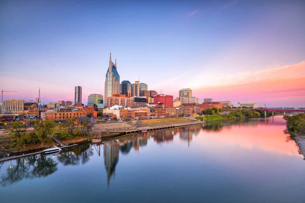Nashville lies beside the Cumberland River – Shutterstock