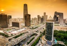 Beijing during sunset / shutterstock business traveller