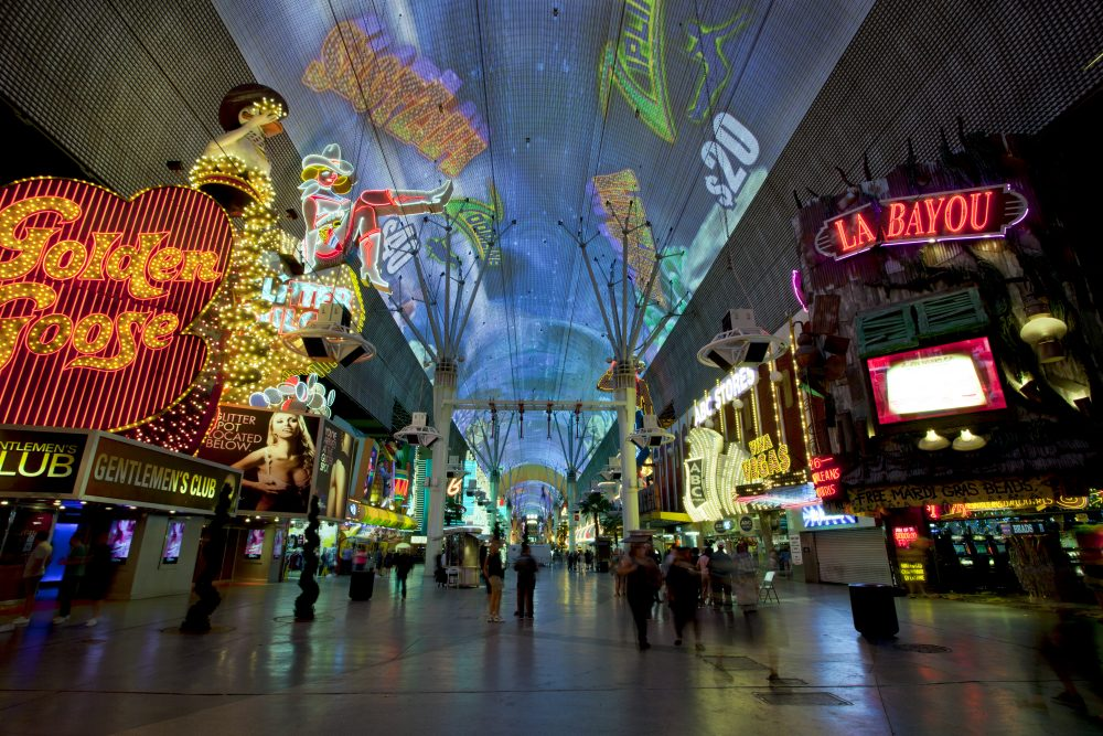Walk through the Fremont street is a unique experience -  Aneese / Shutterstock Las Vegas