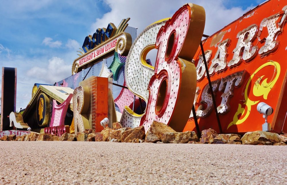 The 'boneyard' section of The Neon Museum stocks restoration awaiting signs - EQRoy / Shutterstock Las Vegas