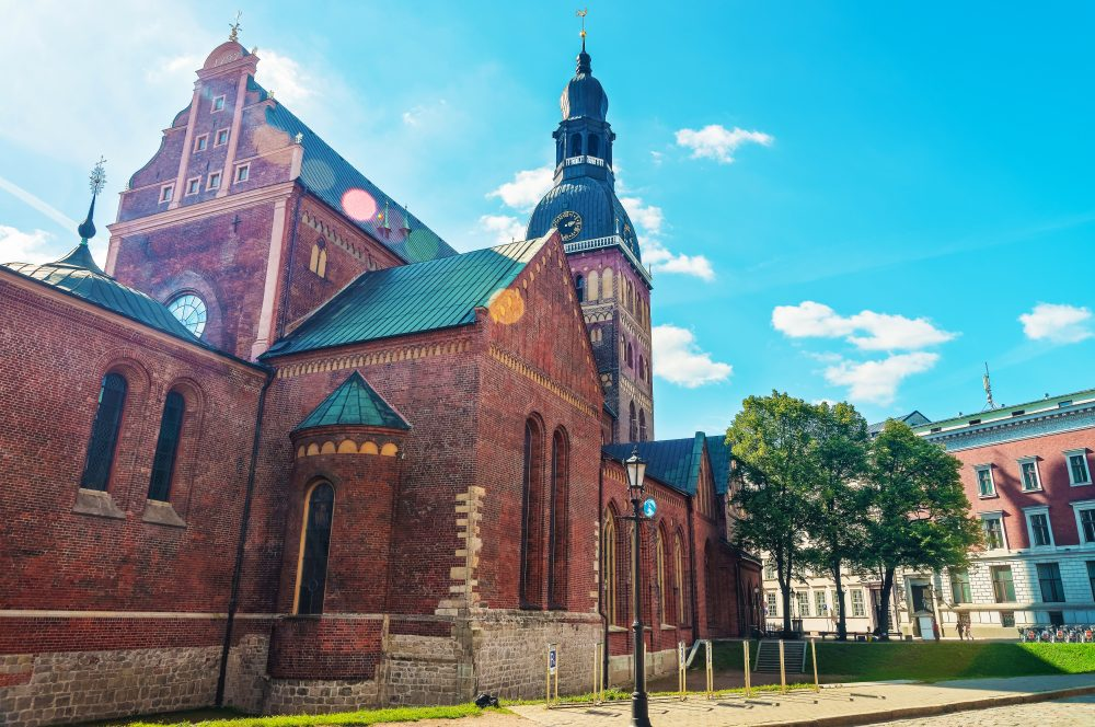 St. Peter's church dominates the city center of Riga - Shutterstock Latvia