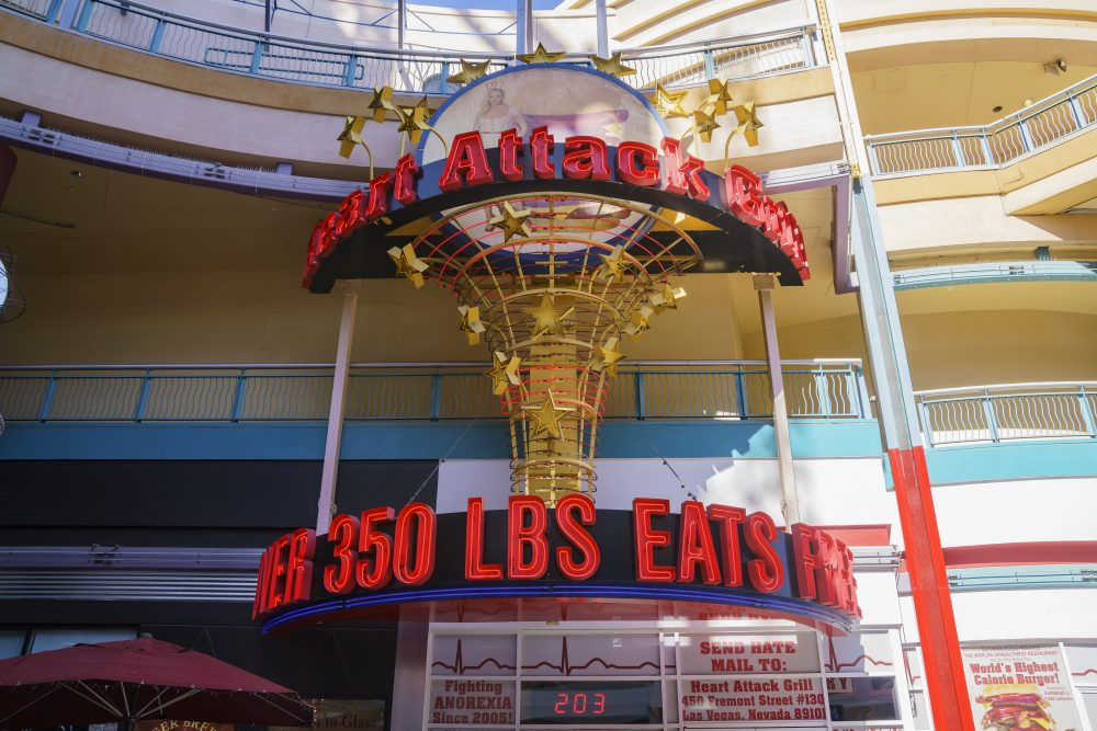 Guests over 160 kg get to eat for free at the Heart Attack restaurant -  Kit Leong / Shutterstock Las