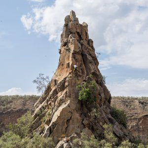 Fischer's Tower, a 50m high pinnacle, is one of the distinctive columns Hell's Gate National Park includes. The park got its name after a narrow break in the cliffs and is known for its breathtaking scenery as well as colourful wildlife – Nathan Siegel Hell's gate