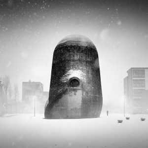 Showing that sometimes you have to wait to get the shot, it took Andreas Pohl two years to capture the perfect moment of the snow falling on the wind tunnel of Berlin-Adlershof – Andreas Pohl / 2018 Sony World Photography Awards best photos