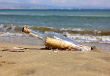 A message in a bottle has been found on an Australian beach – Shutterstock