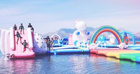 Unicorn island is and inflatable playground in Subic Bay, 130 km from Manila, Philippines — Inflatable Island
