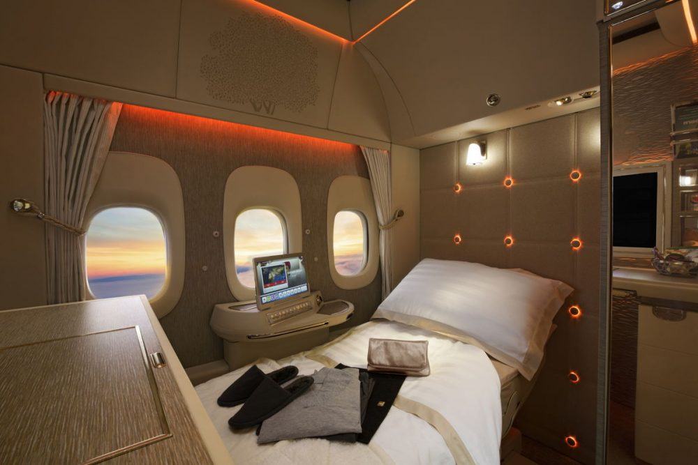 Emirates are set to unveil their fully enclosed  First Class Private Suite — Emirates Arabian Travel Market, First Class Private Suite, Emirates