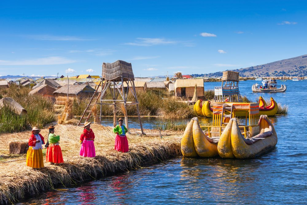 The totora reeds are still used by the Uros who construct floating islands upon which to live — saiko3p / Shutterstock. 9 best things to do in Peru