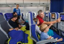 Air France unveils onboard family couches