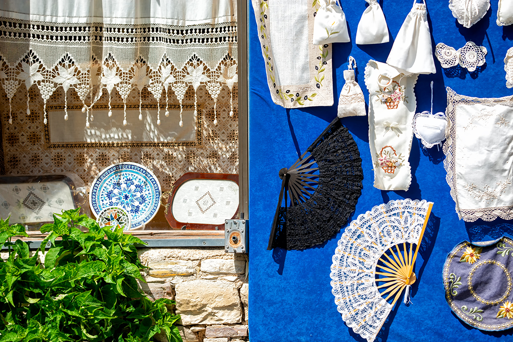 Traditional embroidery at Pano Lefkara — Shutterstock Island hopping in the Mediterranean