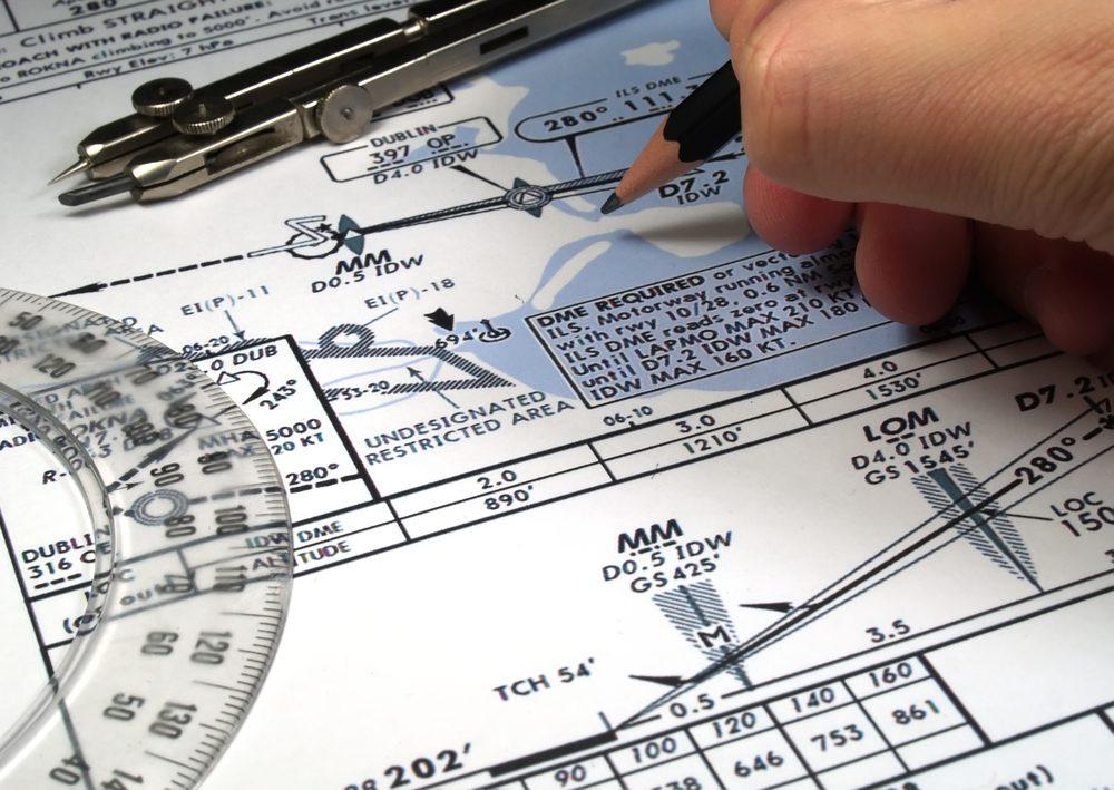 Last-minute paperwork usually involves revising the flight plan — Shutterstock