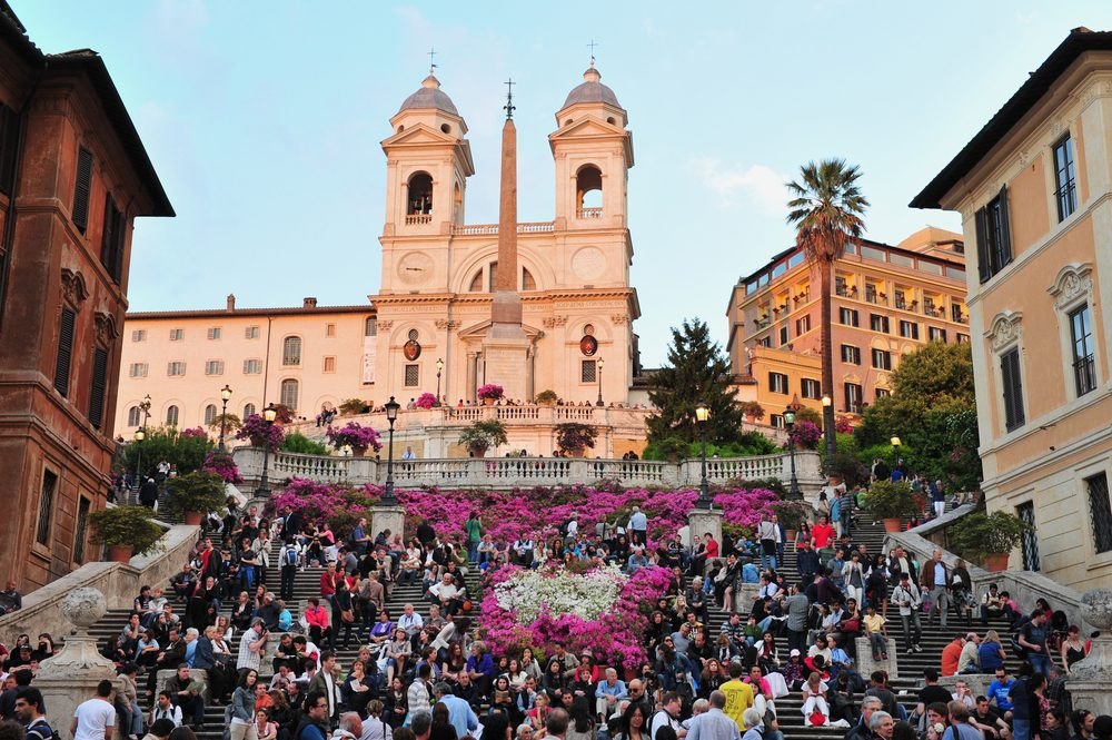 Spanish Steps in Rome are a popular place to hang out — Shutterstock