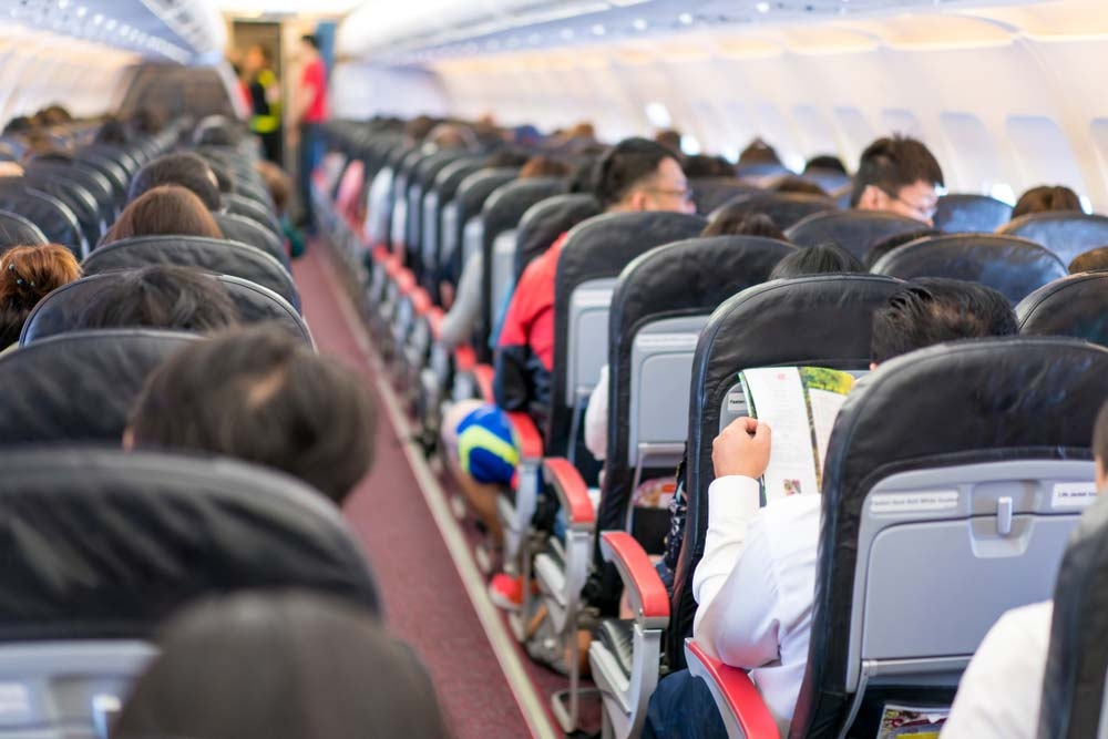 People queuing up for the lavatories usually means the aisle seats are exposed to more germs than the window seats — Shutterstock