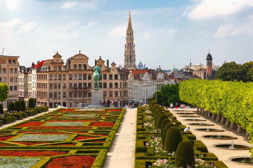Brussels features many historical sites and green places to hang out, even though it's also the capital of the European Union and headquarters to a number of governmental and international institutions — Shutterstock 6 easily walkable cities around the world