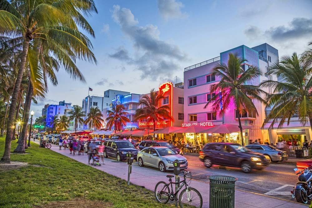 Ocean Drive in South Beach features a number of art deco buildings — travelview / Shutterstock 6 best places to travel in December 2019