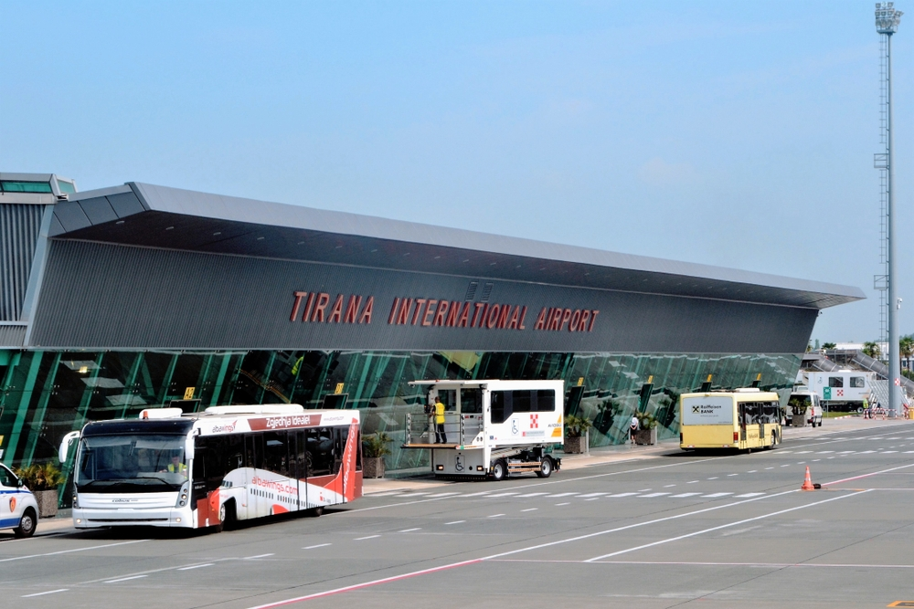 Tirana's airport has been experiencing a boost in passenger numbers for the past 14 years — LMspencer / Shutterstock Tirana airport to welcome more than 3 million passengers in 2019