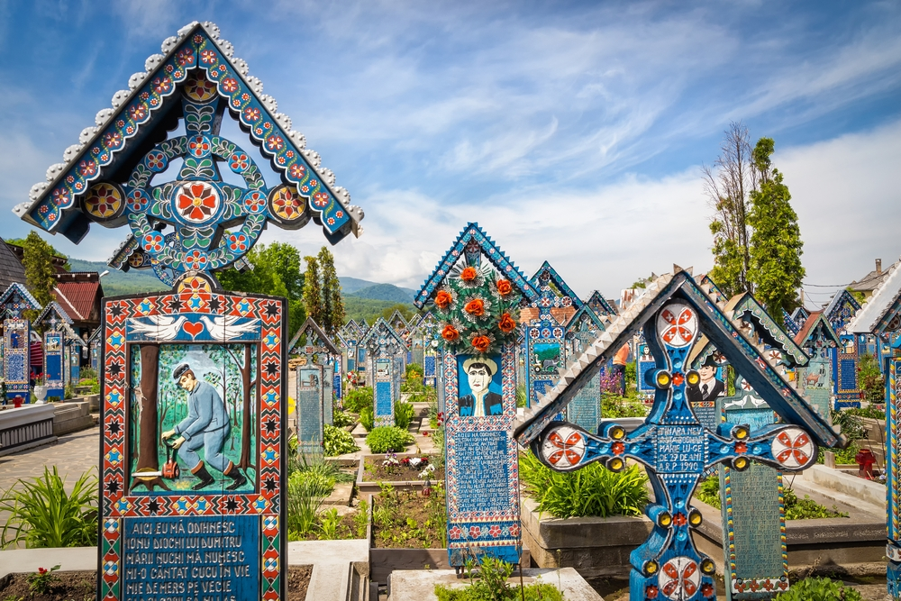 Romania's Săpânţa cemetery is home to 800 colored graves — Shutterstock 15 random and quirky facts about Europe
