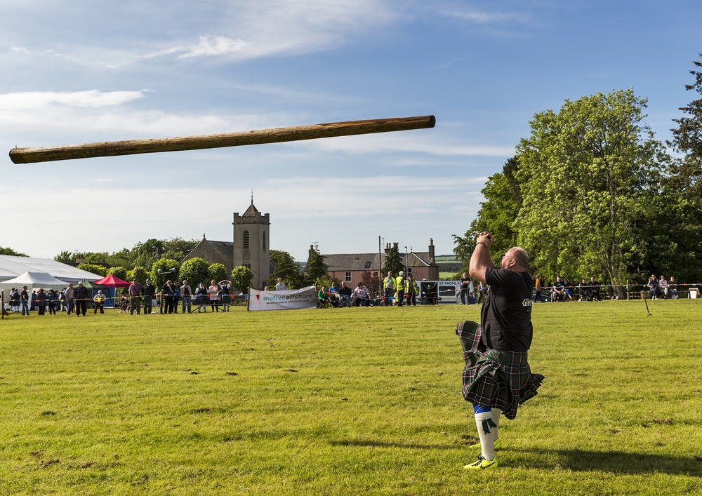 The name caber comes from the Gaelic word cabar or kaber, meaning a wooden pole — JASPERIMAGE / Shutterstock