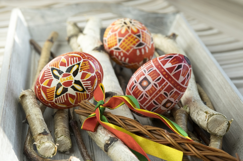 After whipping, the woman gives the men specially decorated Easter eggs — Shutterstock