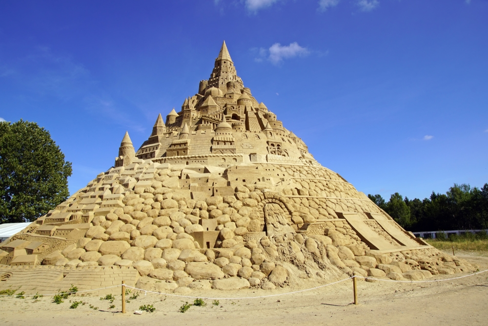 The biggest sandcastle ever completed required 11,000 tons of sand — Michael Overkamp / Shutterstock