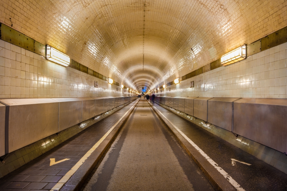 The Alter Elbtunnel is a pedestrian tunnel under the river, initially built for dock workers — Shutterstock