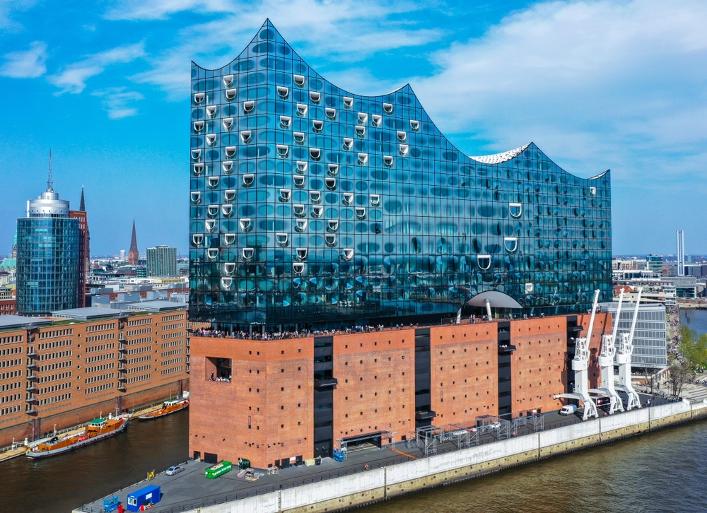 The Elbphilharmonie is a world-class music venue containing three performance halls and a music school — Shutterstock