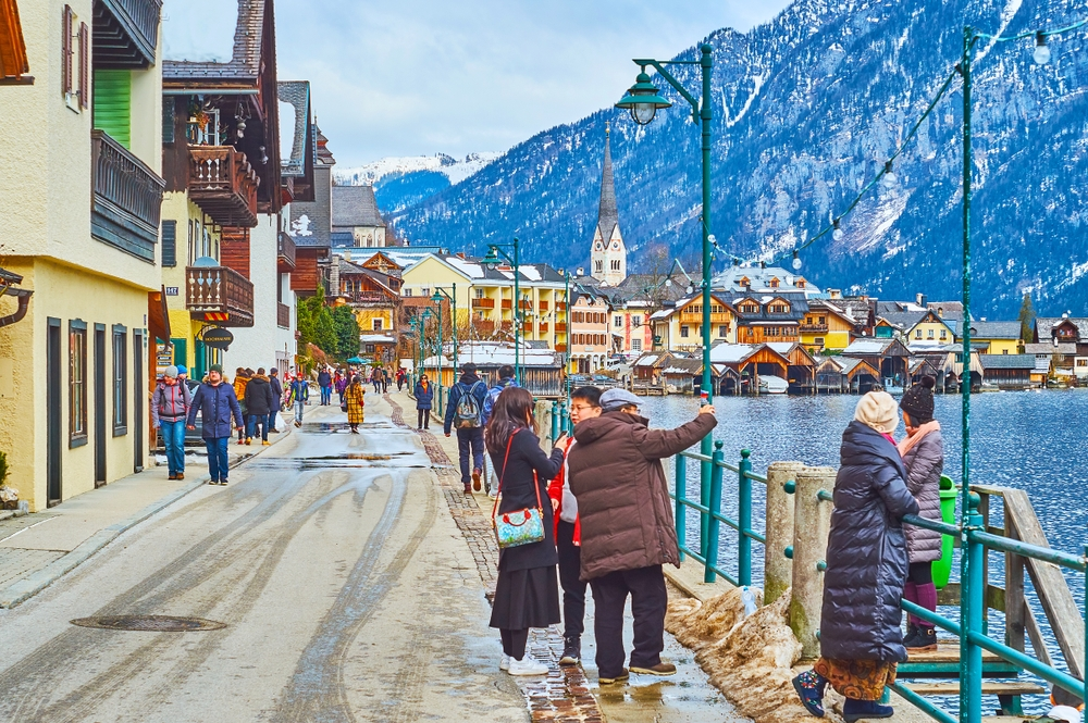 Hallstatt likeness to the fairytale's city of Arendelle attracts thousands of visitors a day — eFesenko / Shutterstock