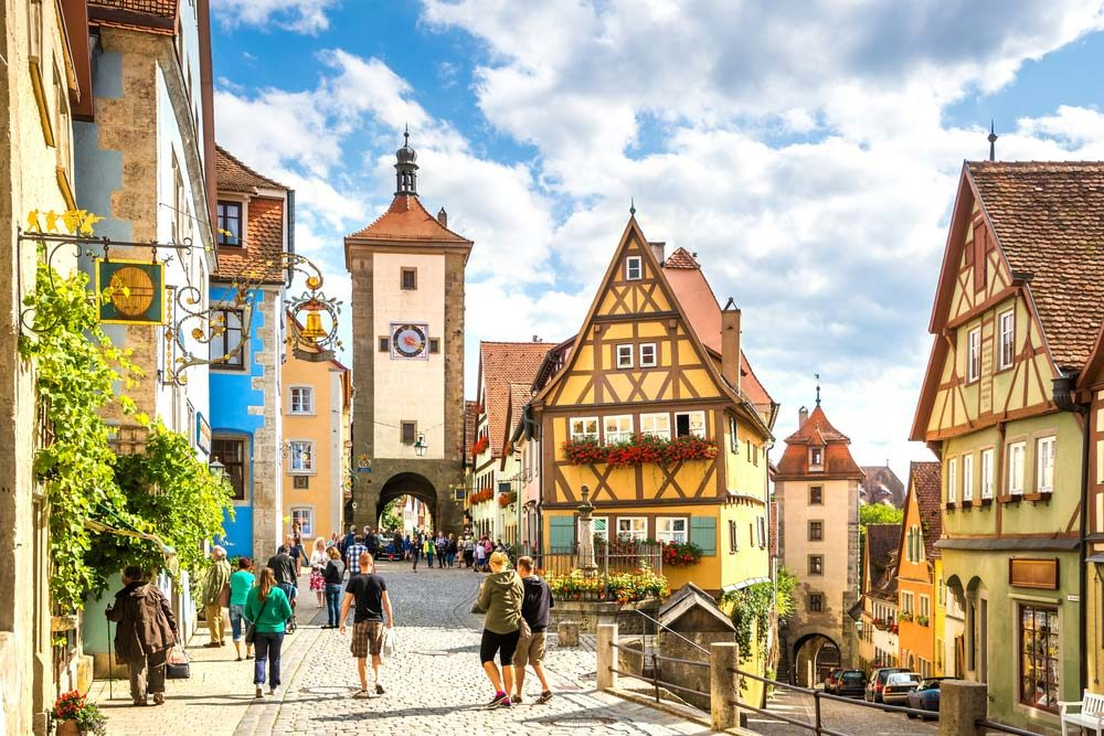 Snuggled between Nuremberg and Stuttgart, the small town of about 11,000 people is probably just about as medieval as they come — Shutterstock
