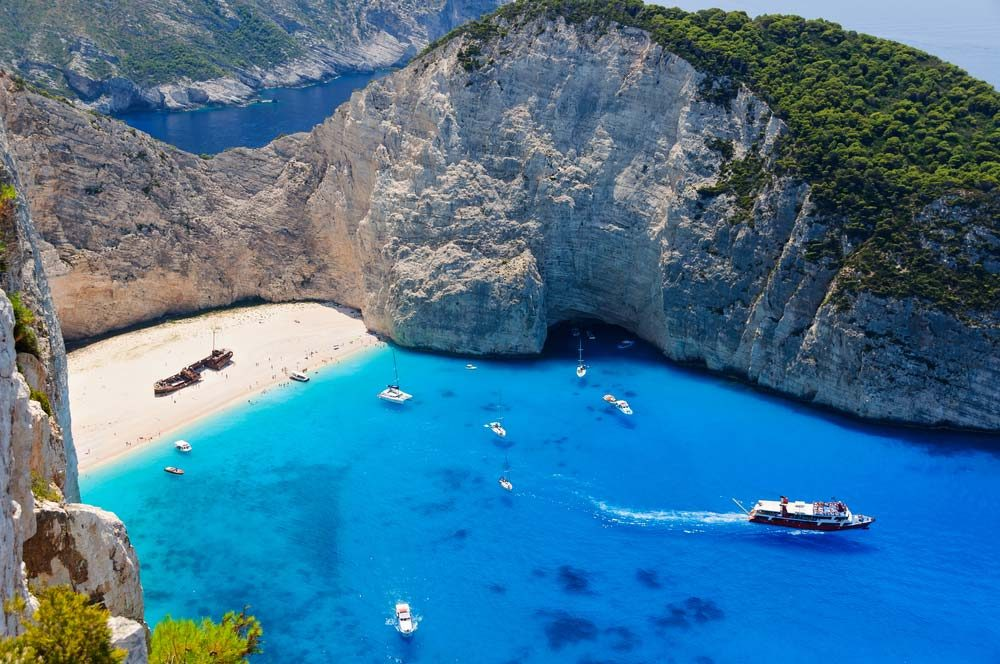 A hidden Shipwreck beach on the coast of Zakynthos got its name after a ship ran aground here 40 years ago — Shutterstock