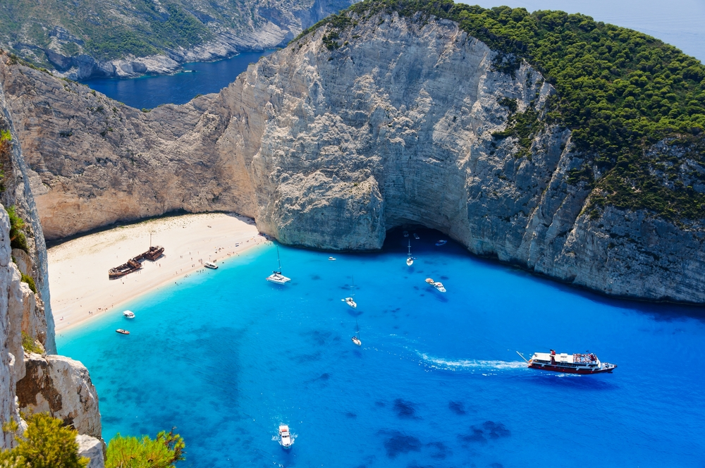 A hidden Shipwreck beach on the coast of Zakynthos got its name after a ship ran aground here 40 years ago — Shutterstock 6 destinations to travel in April