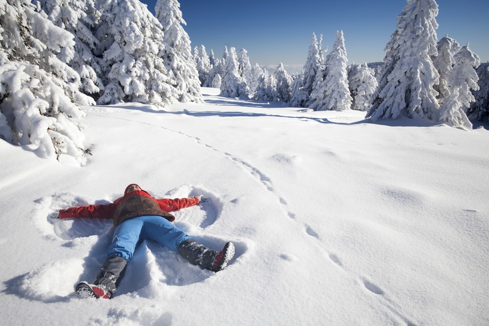 8,962 people simultaneously performed snow angels in North Dakota in 2007 — Shutterstock Feeling cold? Warm up with these chilling facts about snow