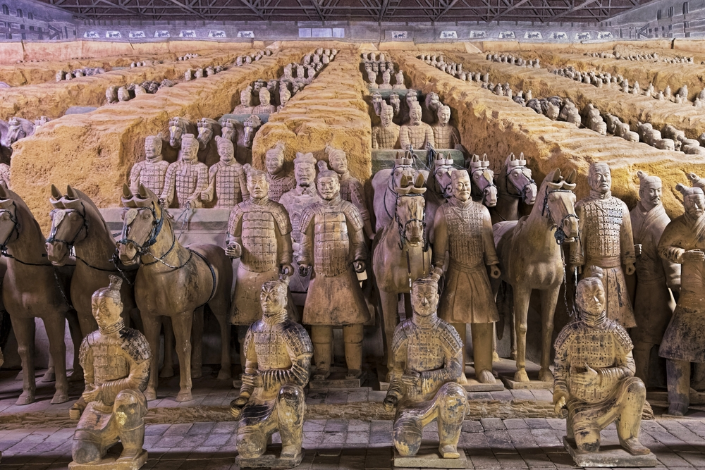 More than 8,000 clay soldiers protect the emperor in his afterlife — DnDavis / Shutterstock 200 more terracotta warriors discovered in China