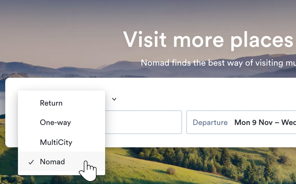 NOMAD takes the stress and hassle out of planning a multi-city trip by pretty much doing all the searching for you
